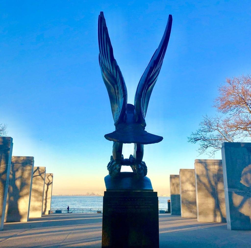 Eagle veterans memorial battery park granite pylons - Veterans Day Memorials