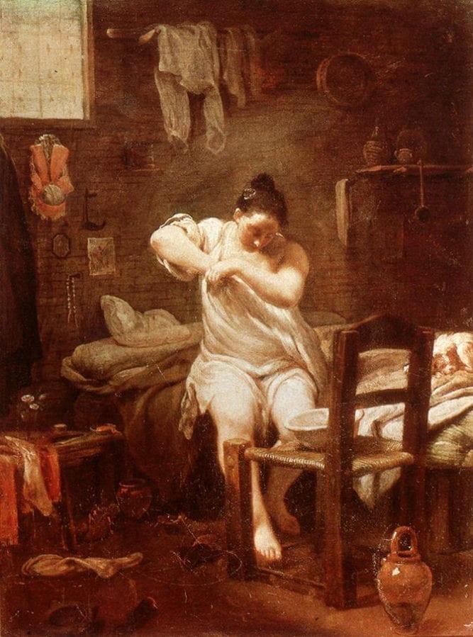 Guiseppe Maria Crespi-the_flea18th century Italian masterpiece