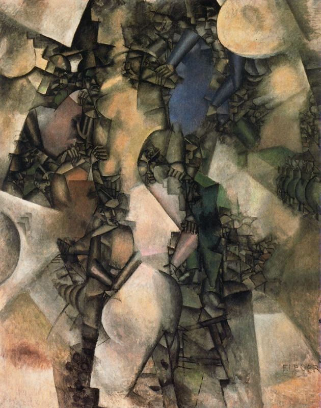 The Wedding by Fernand Leger - Cubism Cubist painting
