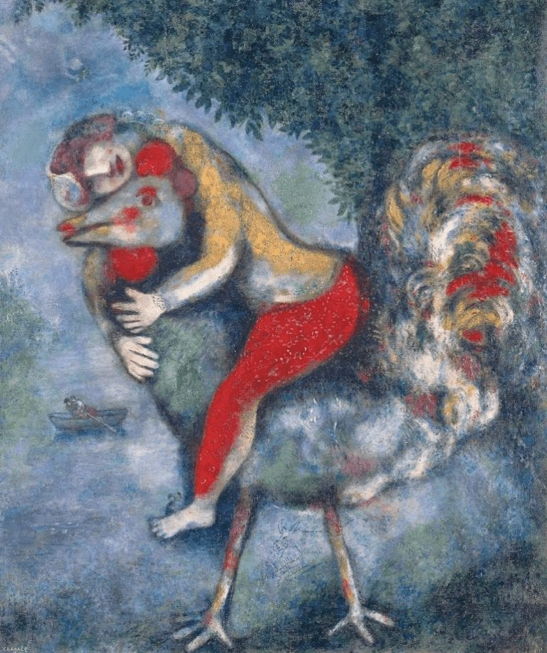 Marc Chagall The Rooster - Oil on Canvas 1929