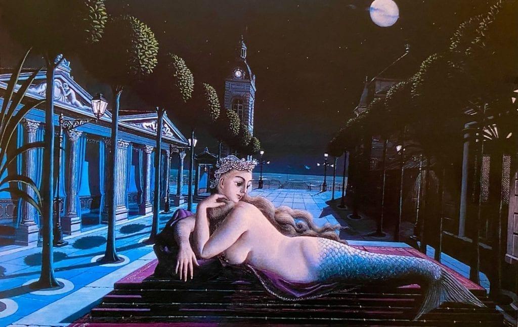 Siren-in-Full-Moonlight-by-Paul-Delveux