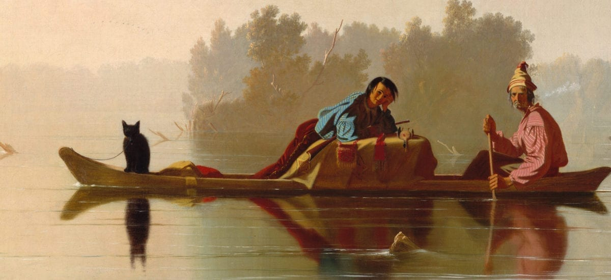 Fur Traders Descending the Missouri – George Bingham