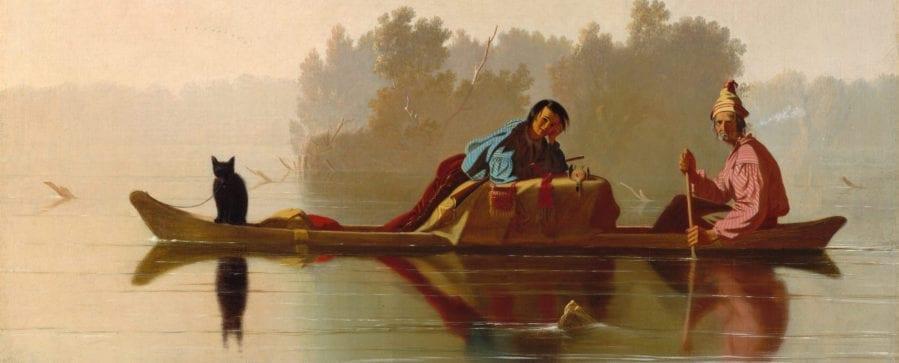 Fur Traders Descending the Missouri by George Bingham