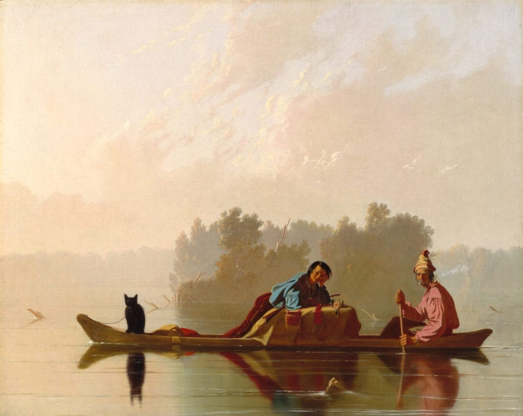 Fur Traders Descending the Missouri River - Benjamin West Painting