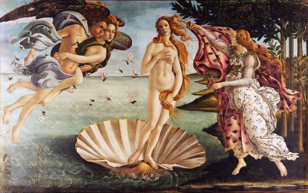 Italian Masterpiece Sandro Botticelli - Birth of Venus