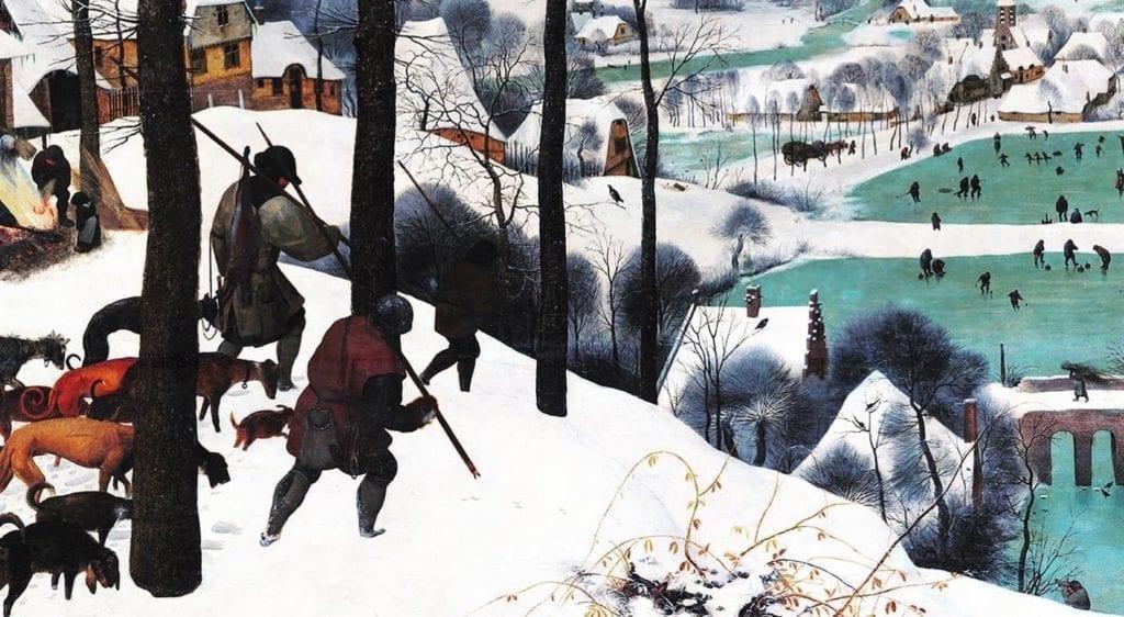 HUNTERS IN THE SNOW BY PIETER BRUEGEL