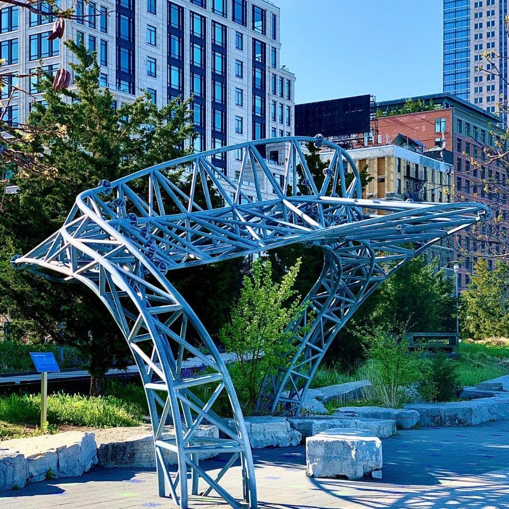 Marc Gibian - Twister: Serpentine Sculptures - Hudson River Park Esplanade