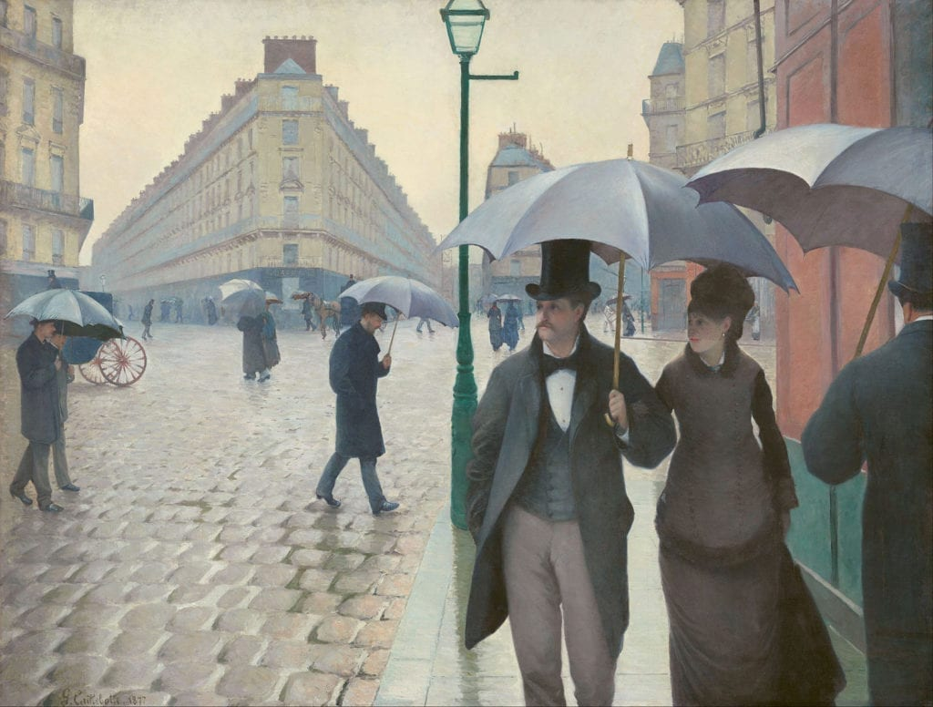 Paris Street Rainy Day Gustave Caillebotte