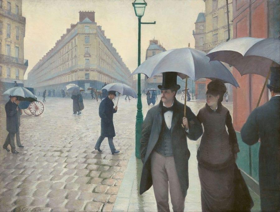 Paris Street Rainy Day Gustave Caillebotte