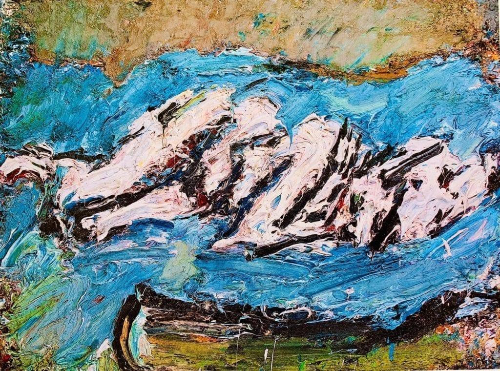 Frank Auerbach - EOW in Her Blue Eiderdown