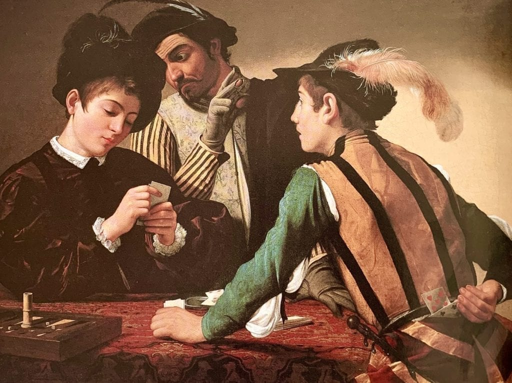 The Cardsharps by Caravaggio