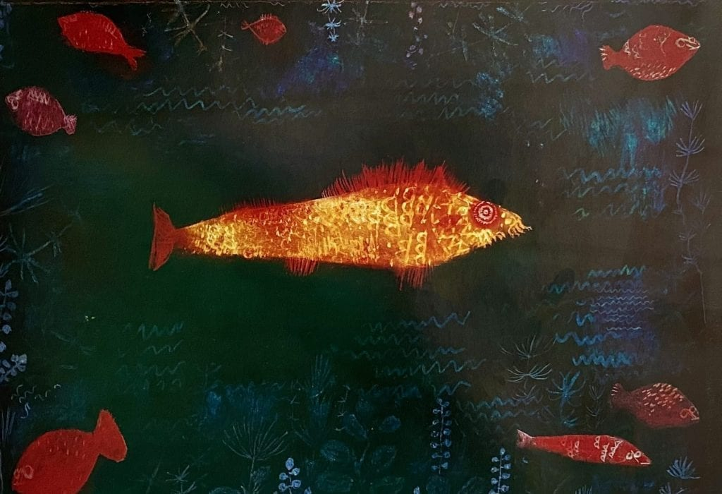 The Golden Fish (Goldfish) by Paul Klee