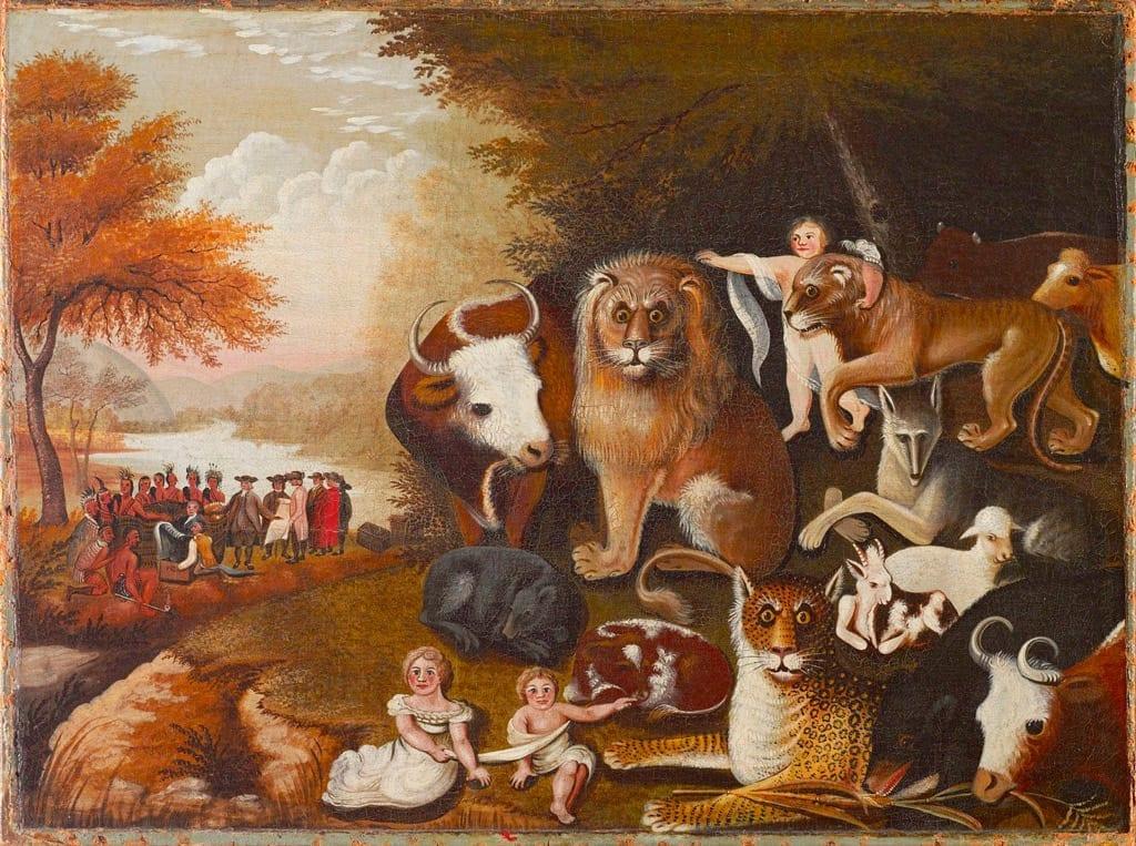 Edward Hicks- Peaceable Kingdom - painter of The Cornell Farm