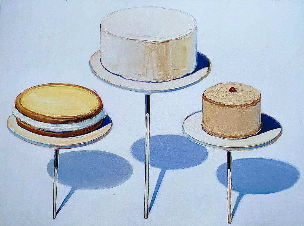 Display Cakes by Wayne Thiebaud
