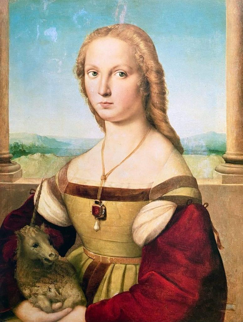 Lady With a Unicorn by Raphael (Raffaello)