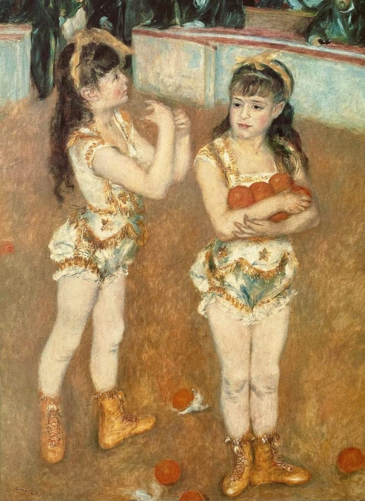 Acrobats-at-the-Cirque-Fernando by Pierre Auguste Renoir