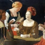 Louvre version of The Cheat with the Ace of Clubs by georges de la tour