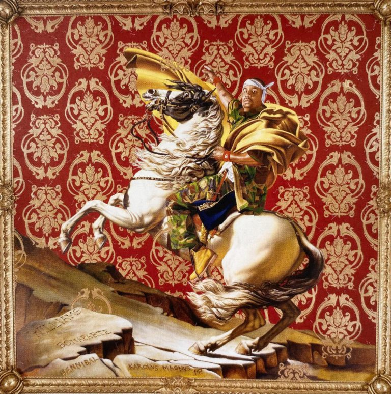 Napoleon-Leading-the-Army-over-the-Alps-kehinde wiley